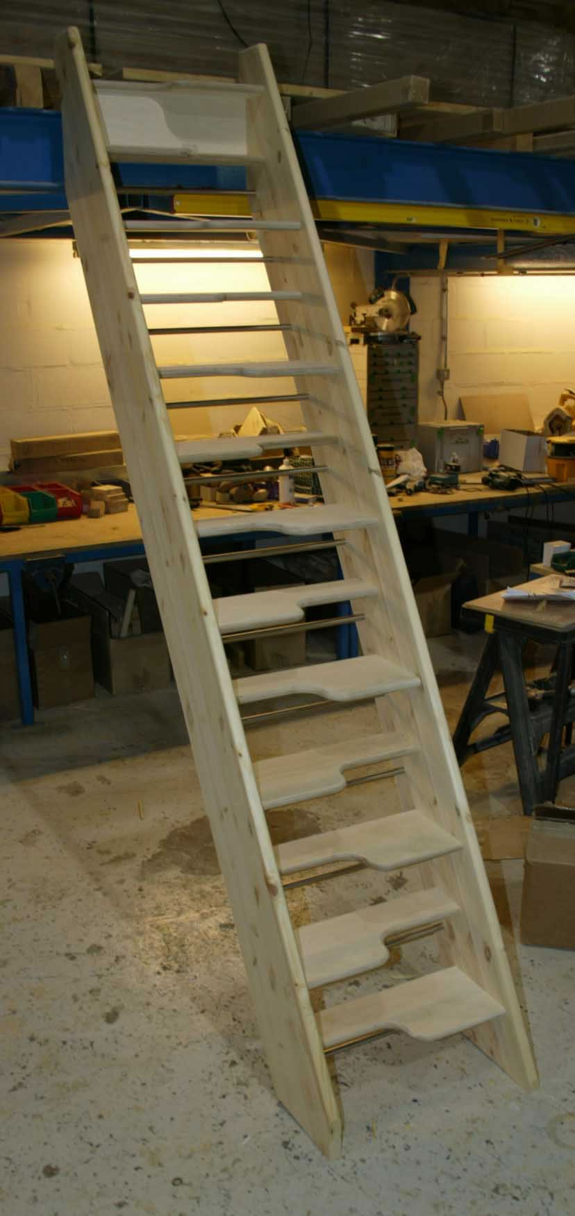 Alternating Tread Staircases Birch Spacesaver Open