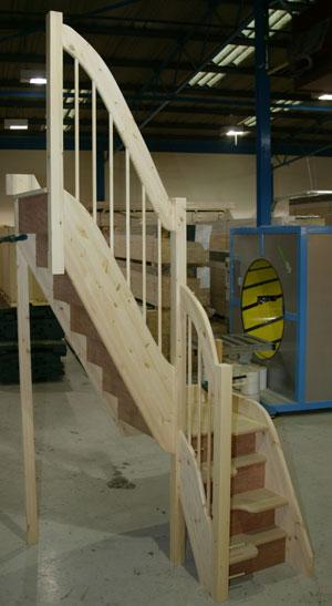 Alternating tread staircases quarter for Quarter landing staircase