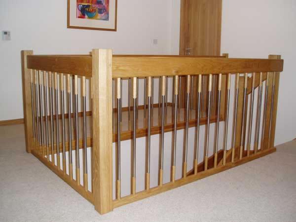 Stairplans european style handrail oak euro landing g