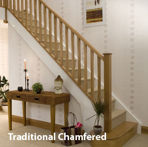 Stop chamfered Spindles and Square newel post