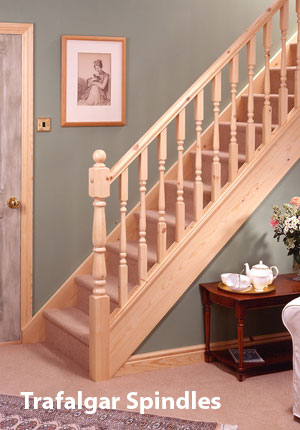 Pine Turned Newel posts and Spindles