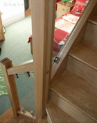 Vision Glass Balustrade on a Oak Staircase