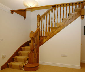 Oak Cut string staircase