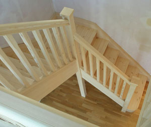 Stairs timber stair manufacturers wooden stairs from for Quarter landing staircase
